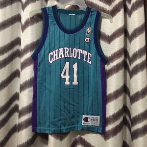 Charlotte Hornets youth m 10-12 champion jersey